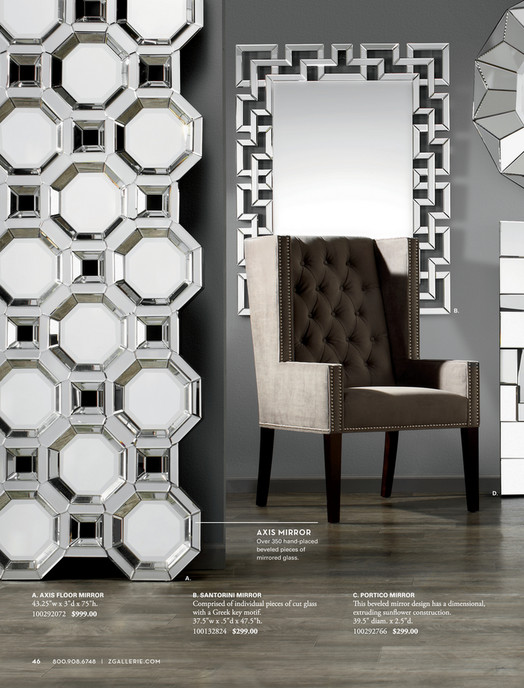 B. D. AXIS MIRROR Over 350 Hand Placed Beveled Pieces Of Mirrored Glass. A.  A. AXIS THE ...
