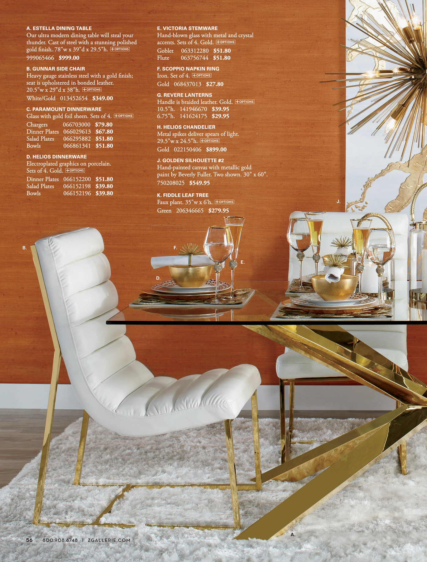 Marvelous Z Gallerie Accent On Design Chic Combo 4 Gunnar Side Chairs Machost Co Dining Chair Design Ideas Machostcouk