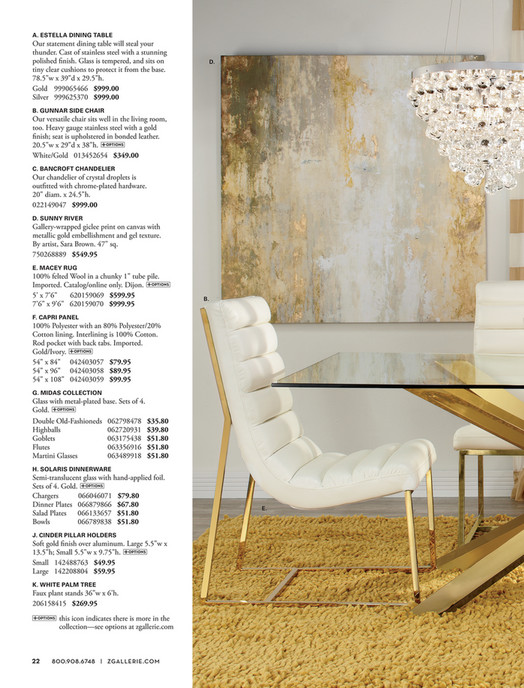 A. ESTELLA DINING TABLE Our Statement Dining Table Will Steal Your Thunder.