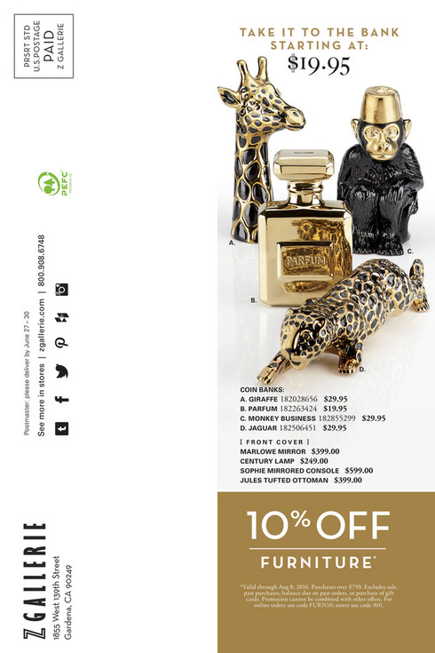 Z GALLERIE Postmaster: Please Deliver By June 27 U2013 30 See More In Stores |