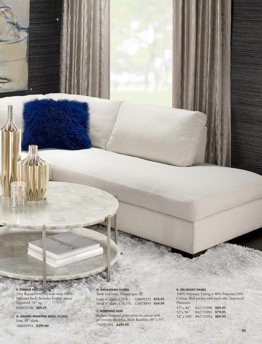 K J H B F Timber Pillow Savannah Vases Belmont Panel 56 Rayon 44