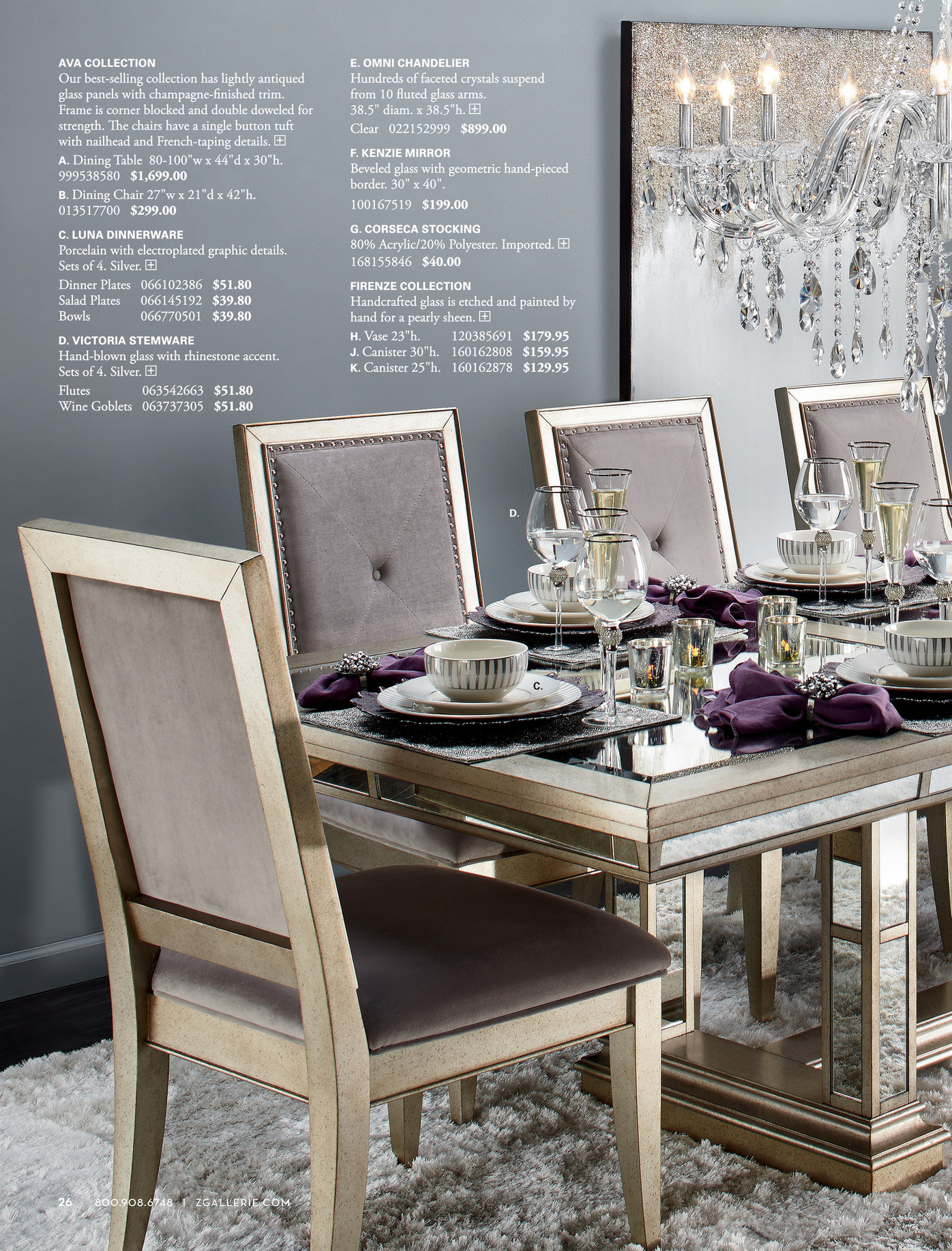 Z Gallerie Decorate Entertain Give Page 26 27