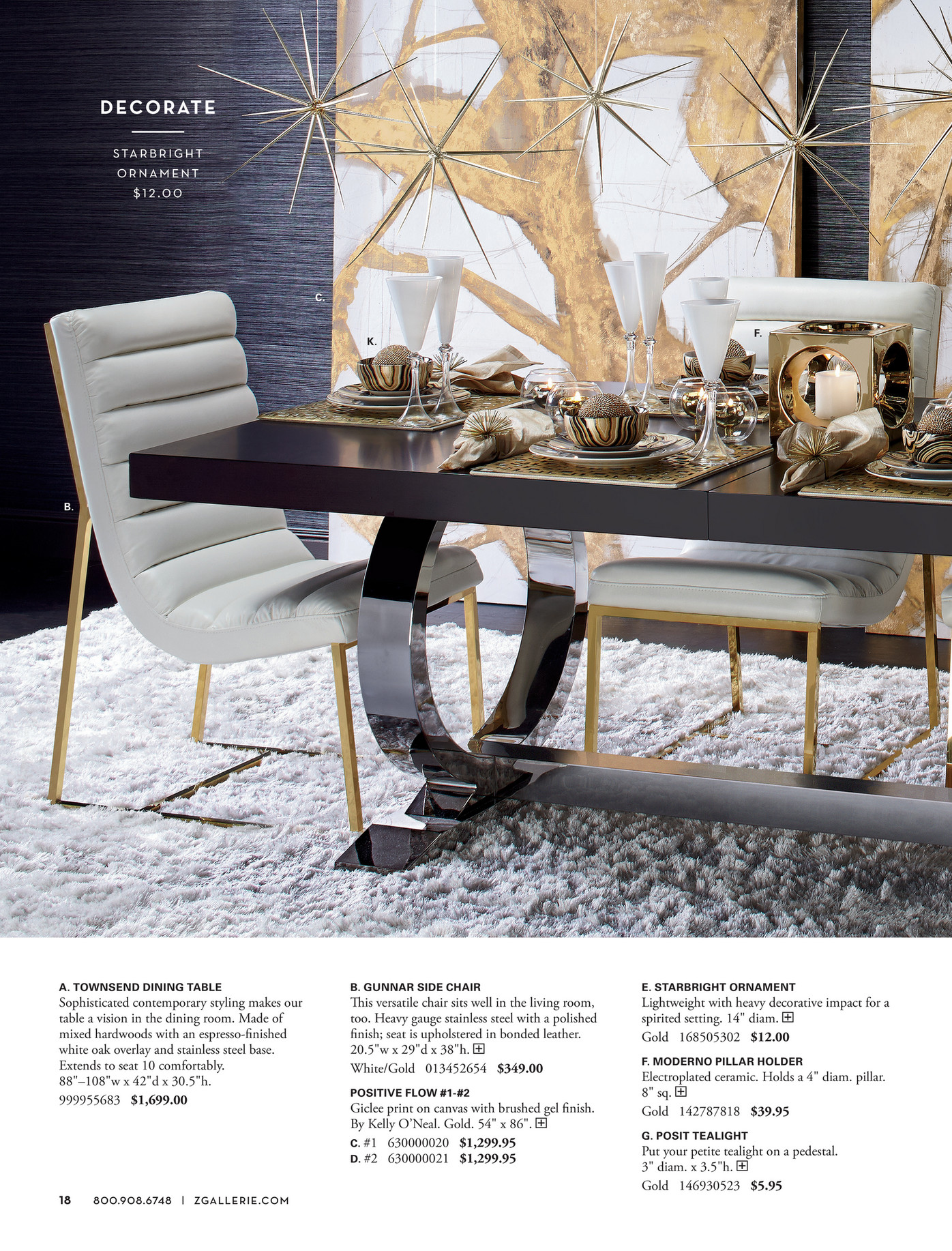 Z Gallerie Decorate Entertain Give Townsend Dining Table