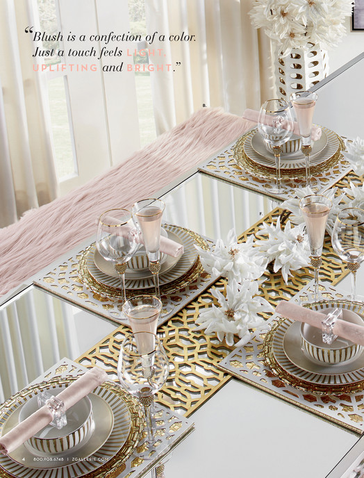 Blush Is A Confection Of Color Just Touch Feels L I G H T U P F N M Sophie Mirrored Dining Table