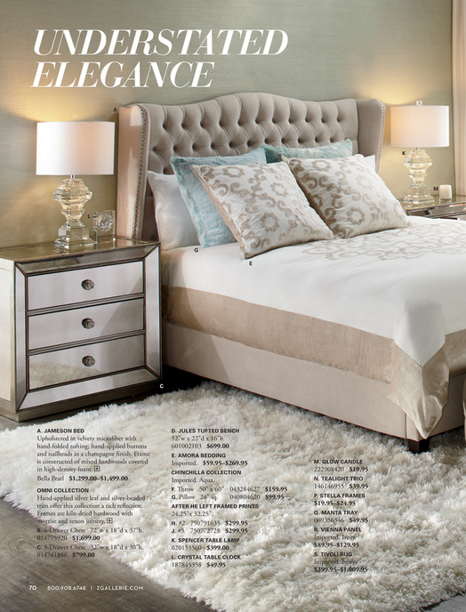 Understated Elegance A K M L G E C A. JAMESON BED D. JULES ...
