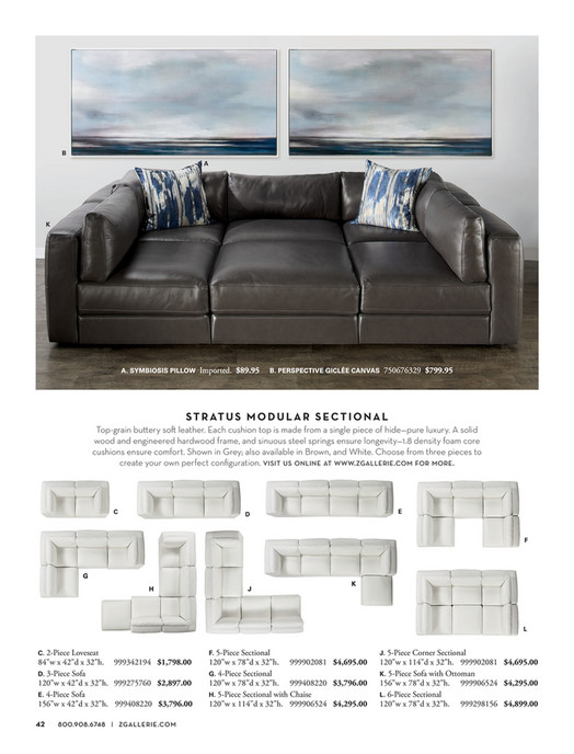 B A K A. SYMBIOSIS PILLOW Imported. $89.95 B. PERSPECTIVE GICLÉE CANVAS  750676329 VENTURA MODULAR SECTIONAL ...
