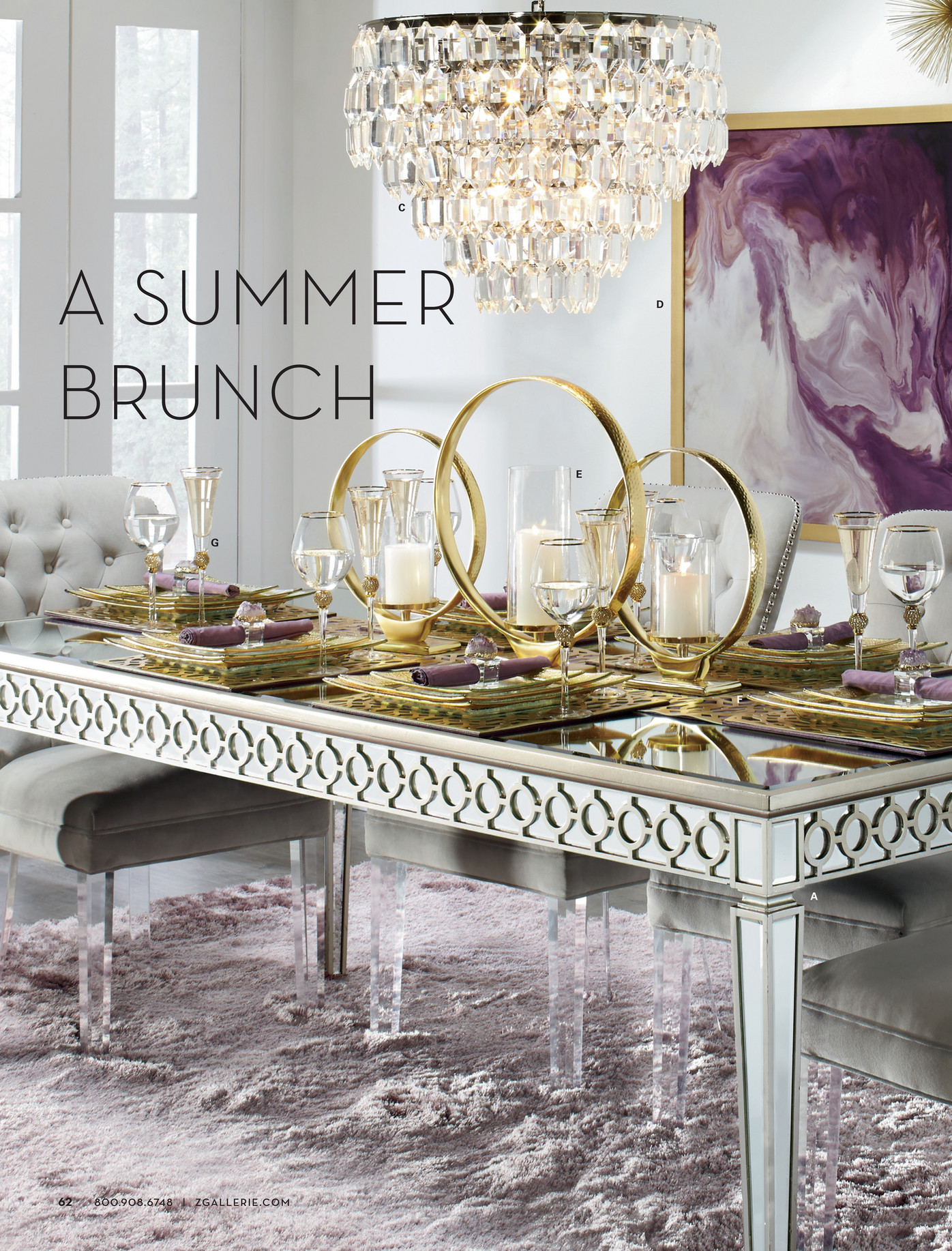 z gallerie all set for summer page 62 63 a sophie mirrored dining table