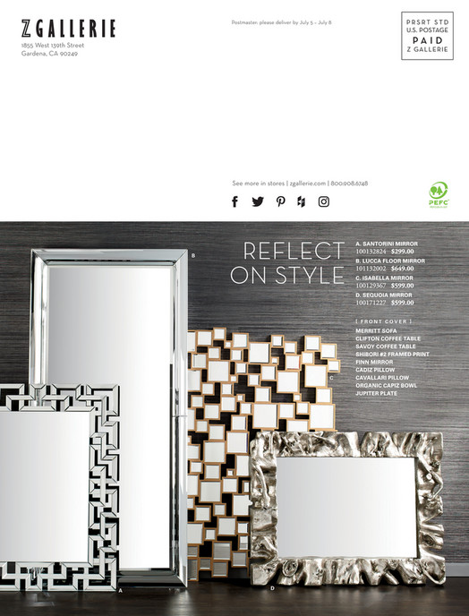 Z Gallerie - Designed by You - Isabella Mirror