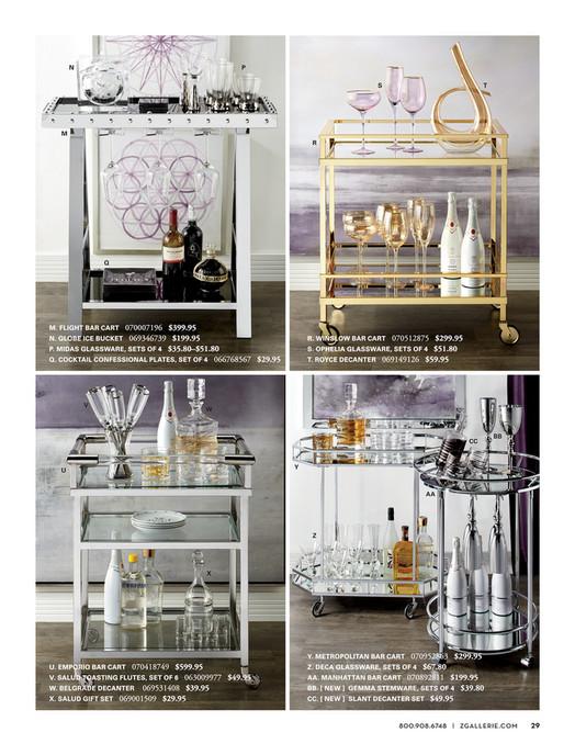 z gallerie bar cart dining room gallerie designed by you flight bar cart