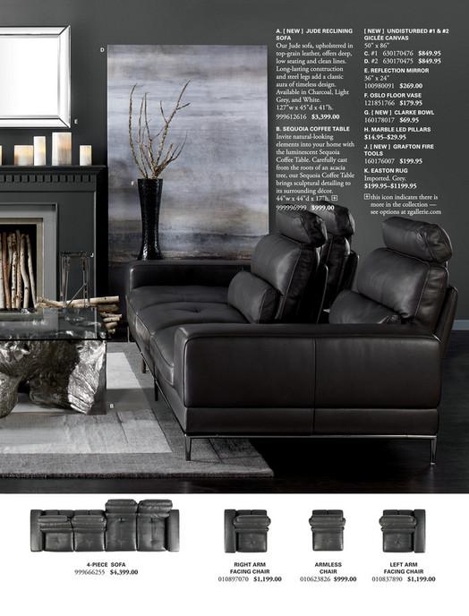 D E A New Jude Reclining Sofa Undisturbed 1