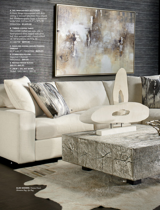 A Del Mar Daybed Sectional Classic Design Reinterpreted With Deep Seating In Textural Upholstery
