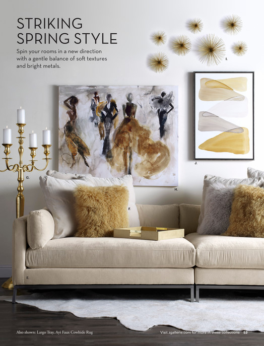 Z Gallerie - Spring Luxe - Scoppio Wall Decor - 12\