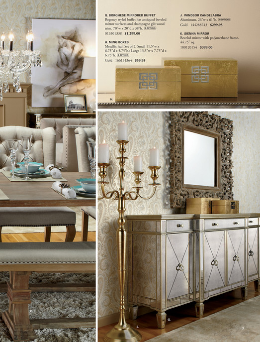 ... G. BORGHESE MIRRORED BUFFET J. WINDSOR CANDELABRA Regency Styled Buffet  Has Antiqued Beveled Mirror